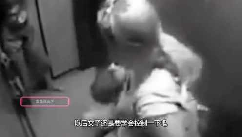 3个少妇以为电梯无人!结伴电梯内小便!监拍恶心全程