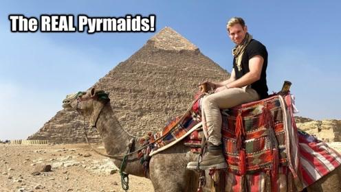 终于知道为什么金字塔不让游客攀登了,小哥冒险尝试,答案显而易见