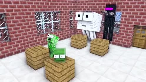 MC动画怪物学院:僵尸从四面八方来袭击怪物学院!