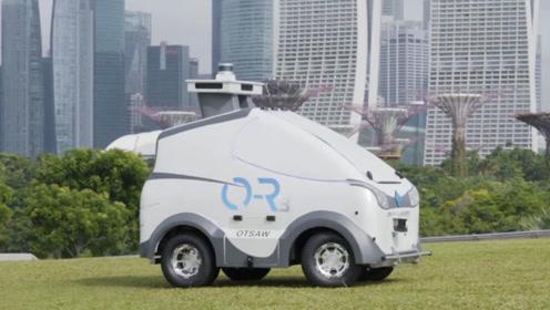 迪拜无人驾驶巡逻车,玩具车的机身,结果全身都是高科技!