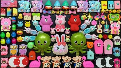 用几十种彩色卡通玩具混合做泥,无硼砂,得到超漂亮的泥巴