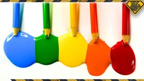 """彩铅还能制作""""颜料""""?老外作死实验,怎么和想象中不一样!"""