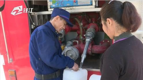 湖州部分村庄用水告急   消防队送水到门口