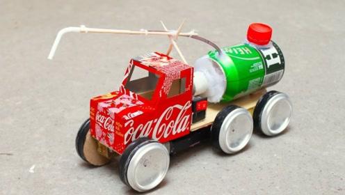mini消防车玩具车制作!
