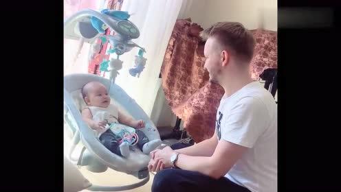 爸爸和8个月的宝宝对话,这对话可是需要领悟力了,太逗了!