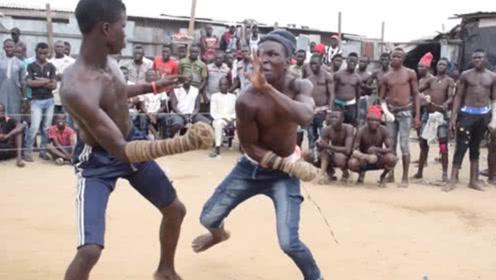 非洲最原始拳击比赛,动作简单粗暴,看完大开眼界!
