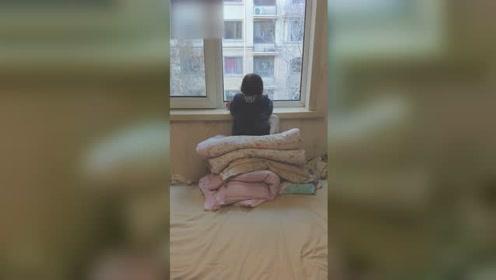 3岁女儿每天准时趴窗台一动不动 爸爸走近后哭笑不得