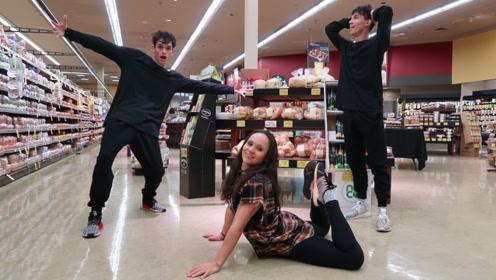 熊孩子老妈陪着孩子,在超市大搞恶作剧,路人一脸懵逼不知所措