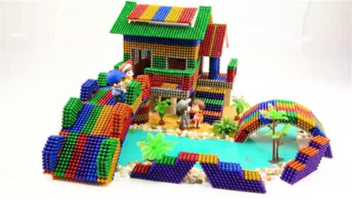 如何用巴克球、水晶泥建造彩虹庄园?