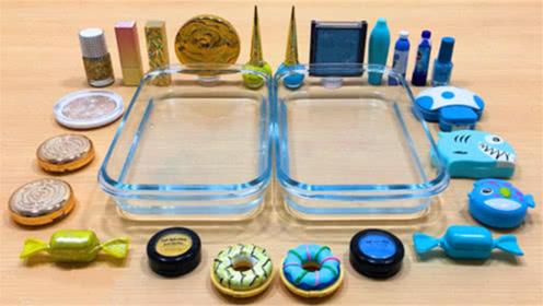 DIY史莱姆教程,多种化妆品+水晶史莱姆,颜色棒棒哒