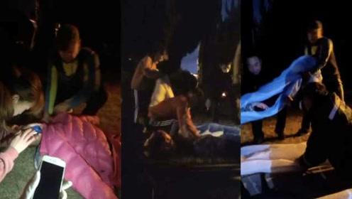 跑团凌晨5点锻炼遇女子坠海,19人合力拉起