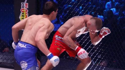 战斗民族再次杀出一位不败的MMA猛将,转身鞭拳直接打懵对手!