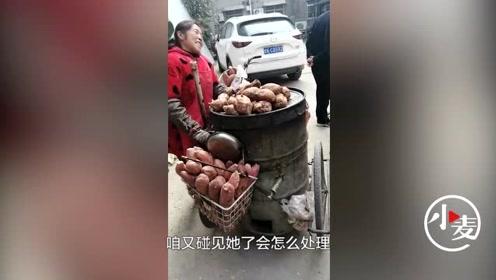 执法人员自掏腰包买红薯 ,温情执法引热议