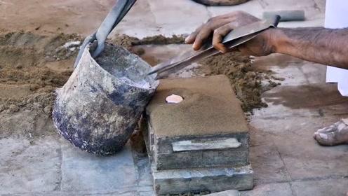 农村老师傅用废铝铸造工具,技术牛不牛你说的算