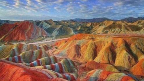 五彩的山你见过吗?美得像幅画,犹如上帝打翻在人间的调色板