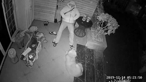 民警凌晨回家怕打扰家人休息 坐门口椅子上睡着