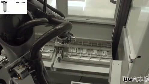 先进的叶片柔性数控生产单元,这样的数控机床实在少见!