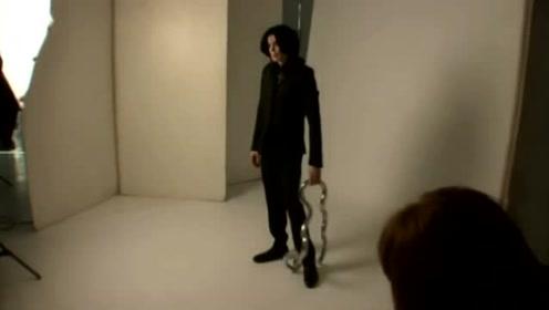 杰克逊拍摄现场,动作、表情一步到位