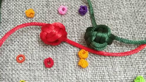 手工编绳,四边菠萝结是一种装饰在手链 项链上非常漂亮的编织结法