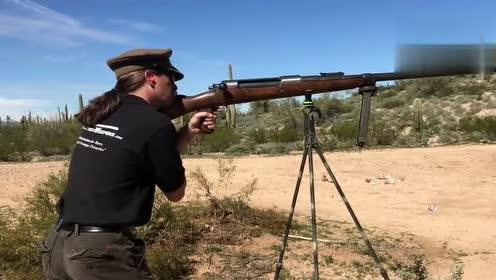 一战期间 反装甲步枪实弹射击,一般的女生拿不动的