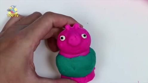 可爱的小猪佩奇彩泥玩具套装