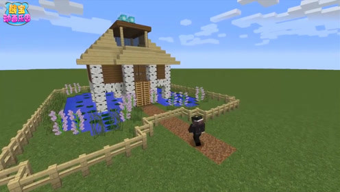 我的世界建筑教程 花园阁楼的白桦木生存小屋 下集