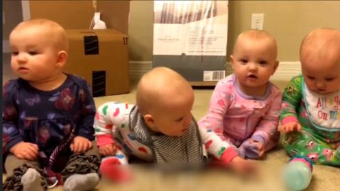 妈妈让四胞胎喊妈妈,老二拒绝了,接下来的画面萌爆了!