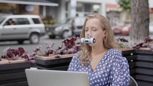 夹在鼻子上就能呼吸新鲜空气,比口罩还要好用的除霾利器!
