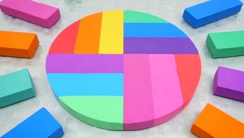 宝宝巴士魔力太空沙—长方体变圆形,创意新玩法花样百变,孩子喜欢