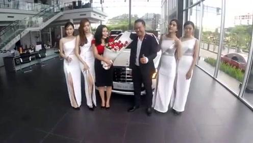 恭喜陈姐,又提豪车奔驰S600