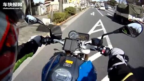 骑宝马摩托车逛逛日本东京街头,公路太干净了