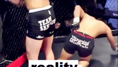 日本拳手这一摔成千古笑柄,堪称MMA中经典的白痴动作