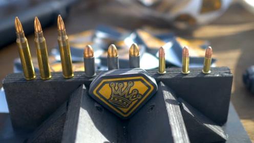 手枪子弹轻松穿透100层贴纸,不知厚达20cm的贴纸,能否挡住子弹?