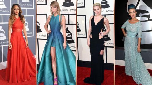格莱美红毯时尚进阶史:霉霉、嘎嘎、水果姐、蕾哈娜、麦姐的华丽变身