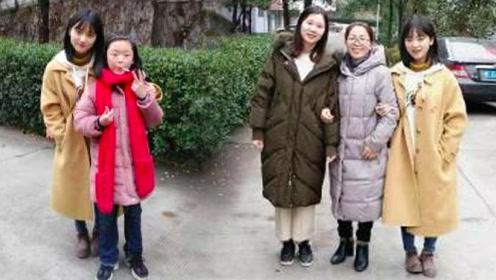 沈月回母校与老师合照 竟被路人拍成1米4
