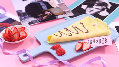 香蕉可丽饼——少糖家庭版