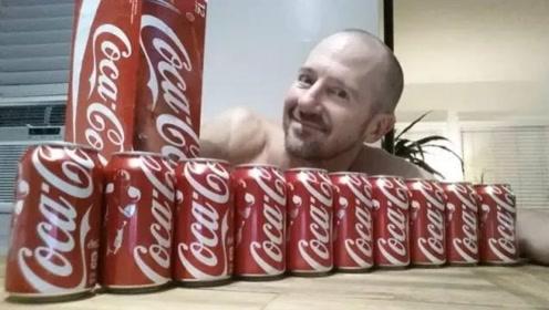 男子每天喝十罐可乐,坚持一个月后会变成什么样,看完一身冷汗!