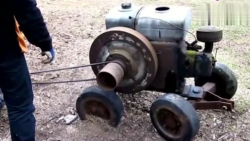 老发动机启动,听听声音怎么样?