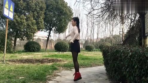精选广场舞《爱上一枝花》气质姐姐公园步子舞演示!跳的真好看!