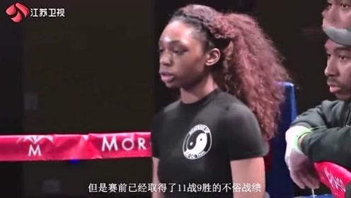 美国裁判数次偏袒美国选手!中国女拳王彻底激怒,连续重拳打哭对手