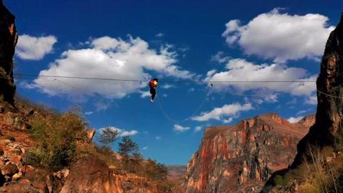 这里没有恐高的人!村民每天靠15米高溜索出行