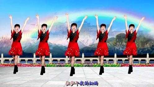 2019入门藏风广场舞《拉萨夜雨》流行舞步 背面演示!附教学