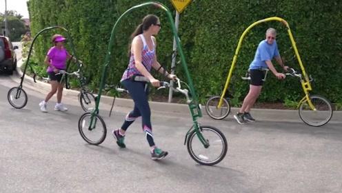 大叔发明没有脚踏板与链条的自行车,却受到大众的喜爱