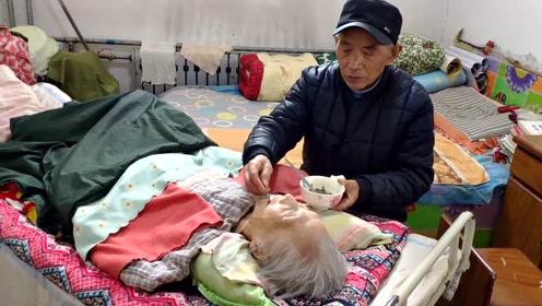 8旬老人照顾瘫痪妻子32年不离不弃,老伴赞优秀