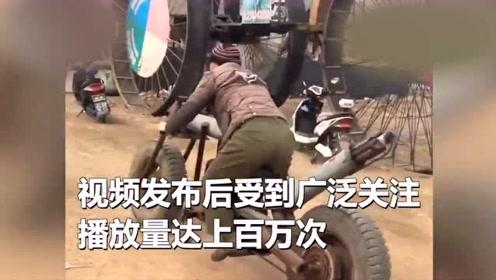 用拖拉机改装了一台摩托,视频播放量上百万!网友:改车第一人