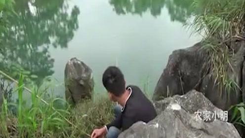 小伙河边野钓,鱼儿不断咬钩,赚翻了