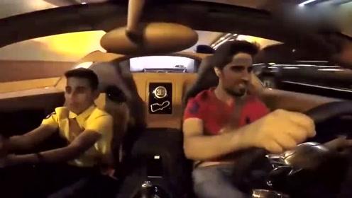 迪拜王子开布加迪威龙去学校接弟弟,真的任性,上学都不一样!
