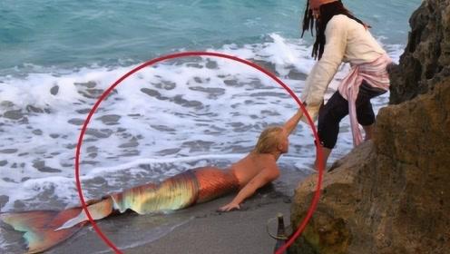 """美国海滩乍现诡异""""美人鱼"""",引得路人驻足拍照!网友:难以直视"""