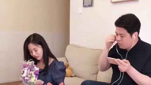 原来祝晓晗是这么的怕她爸啊!笑的肚子疼