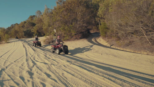 骑四维摩托 畅游沙漠绿洲360°体验海豚岛